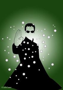Matrix:The Matrix Neo Dodging Bullets