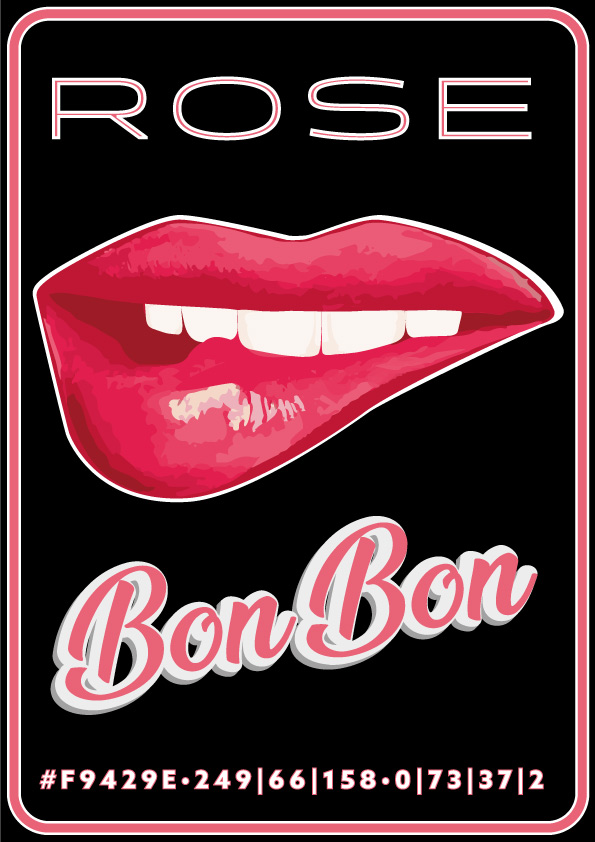 Rose Bonbon color poster