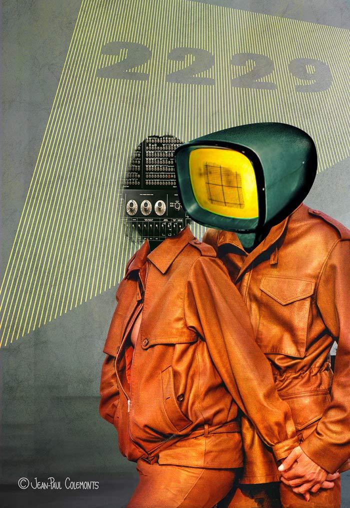 futuristic collage