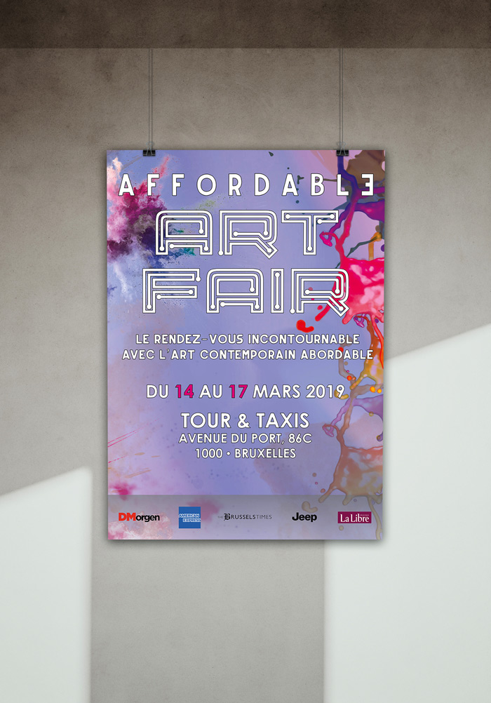 Affordable Art Fair Brussels poster