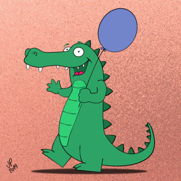 Funny Crocodile Design For Kids
