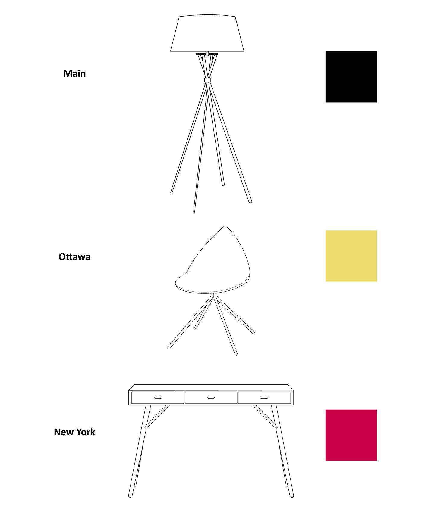 BoConcept colours layout