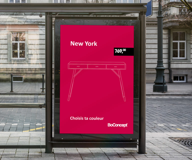 Bus Stop Billboard BoConcept