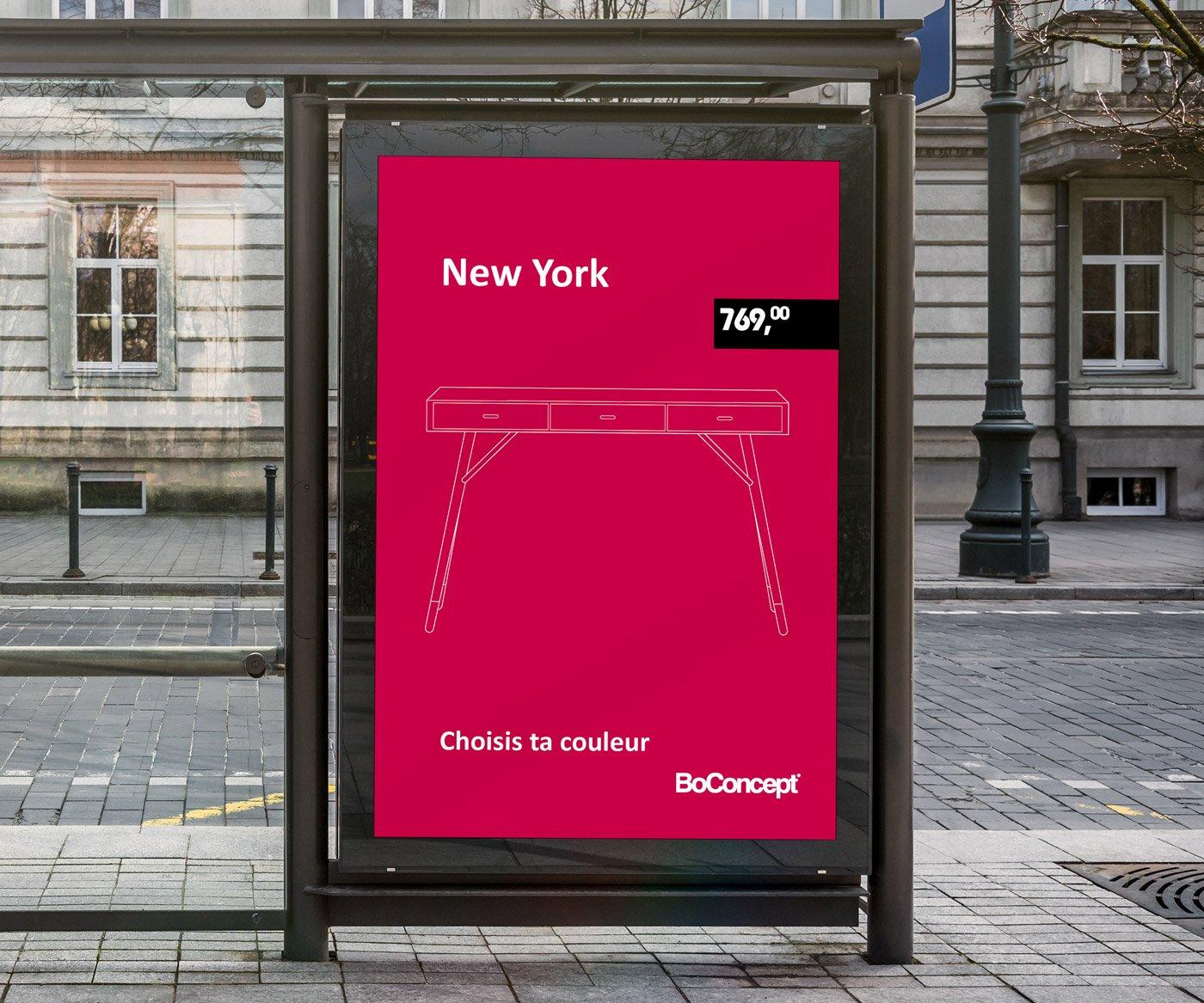 Bus Stop Billboard BoConcept