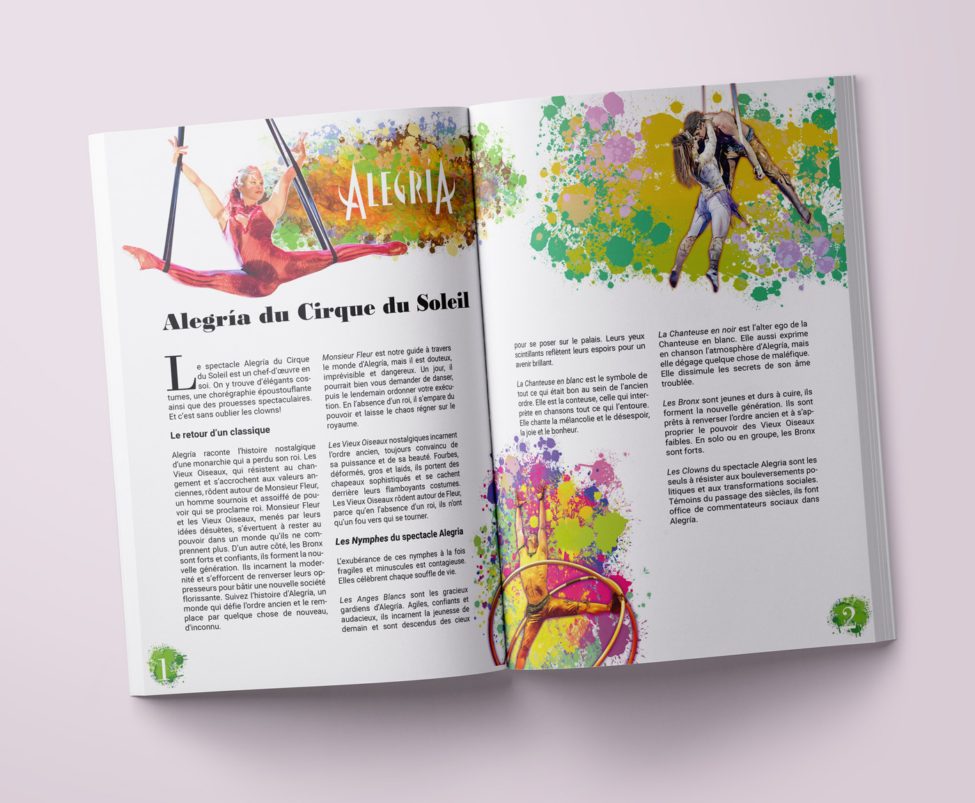Mise en Page Cirque du Soleil & Greenpeace 2