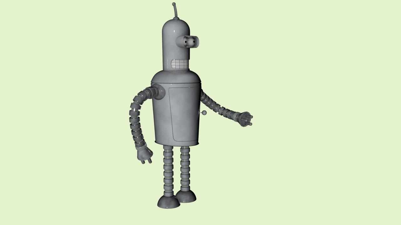 Bender Futurama 3D