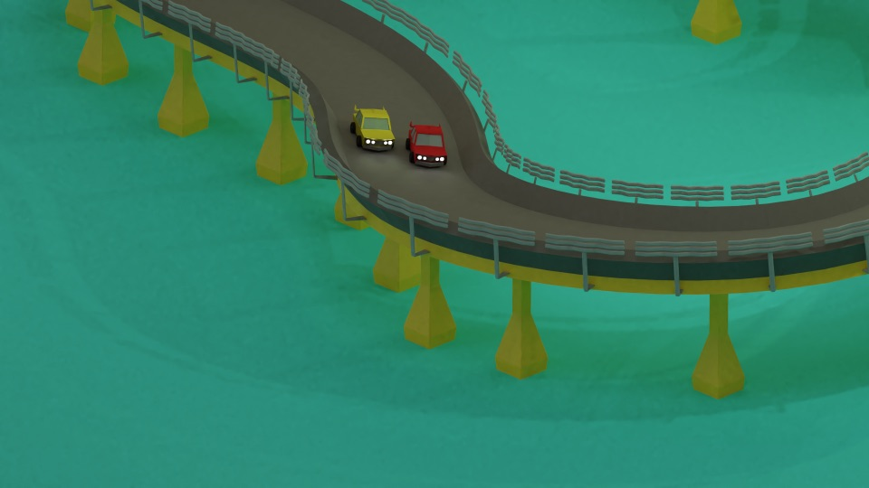 3D Car Racing Animation
