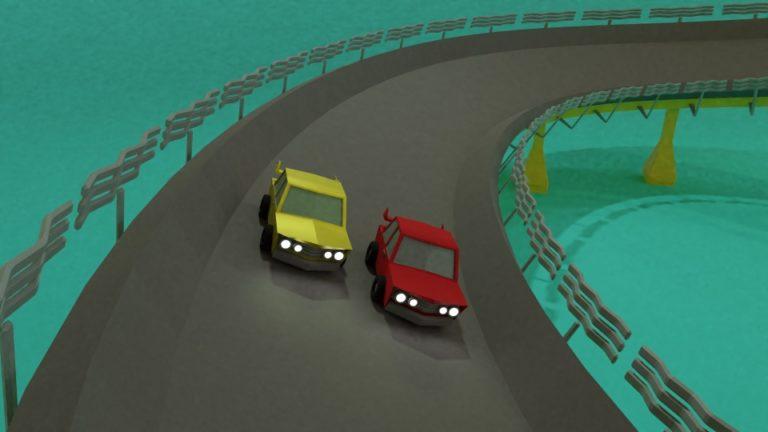 3D Car Racing Animation